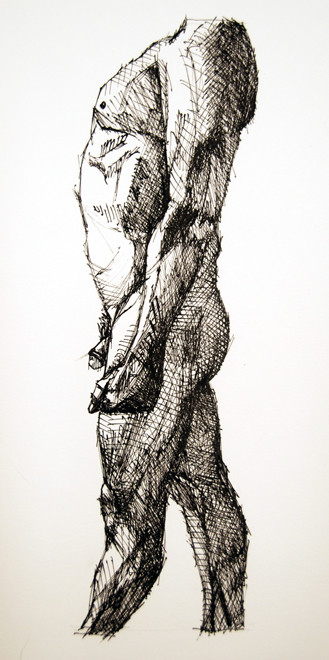 Kouros Walk 1 2009 (Ink) (30x20) Fergus Murray