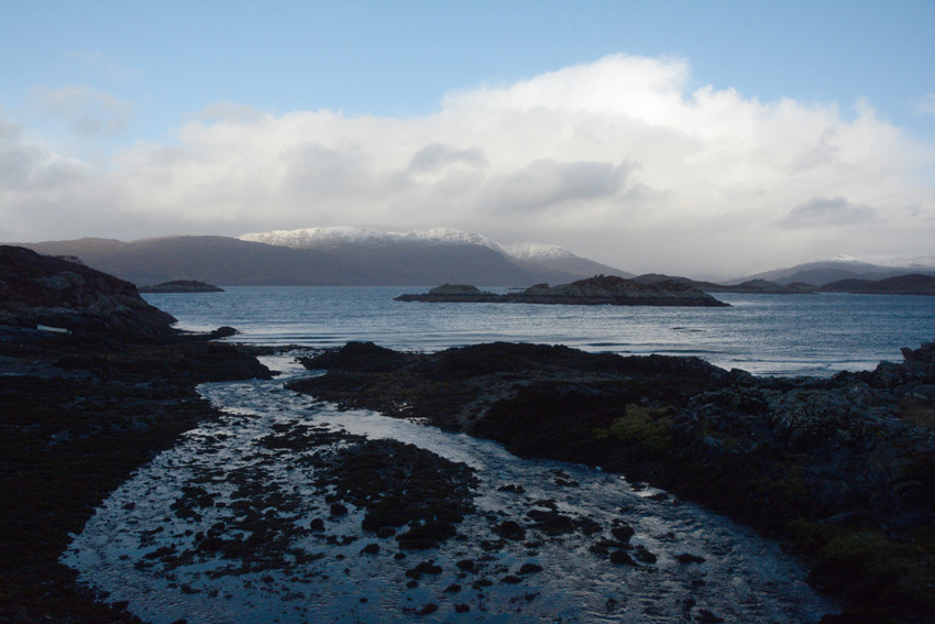 The view across to Kishorn and the Applecross peninsula from Porth an Eorna.