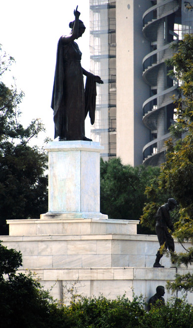 The Liberty Monument, Potocataro, Nicosia -  now 'such an embarrassing obstacle to communal reconciliation that it is unremarked on in most official tourist literature.'