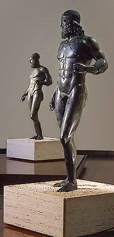 The Riace Bronzes, National Museum of Magna Grecia in Reggio Calabria (Courtesy of Salli @ Wikimedia)