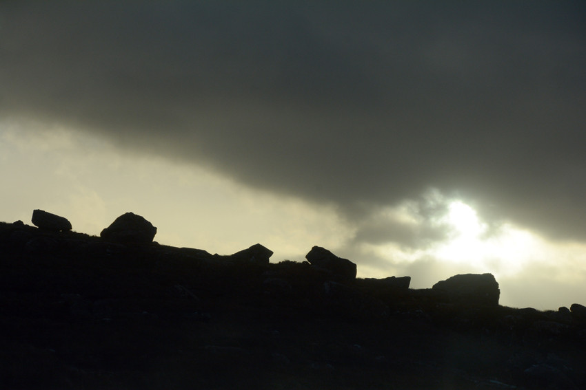 Rocky silhouette on the Applecross road.