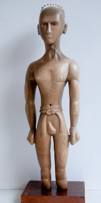 Belted Man 2009 (walnut) (48x15x8)