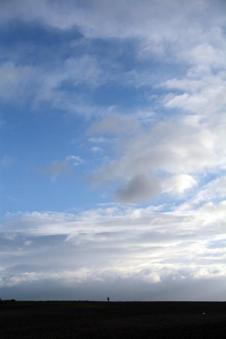 Tall sky.