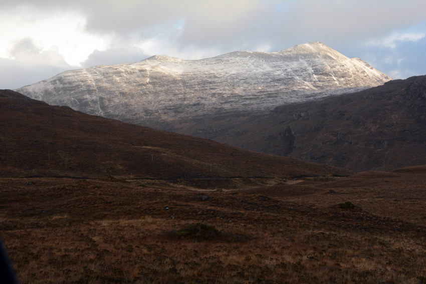 Beinn Damh (868m) from the Kishorn road.
