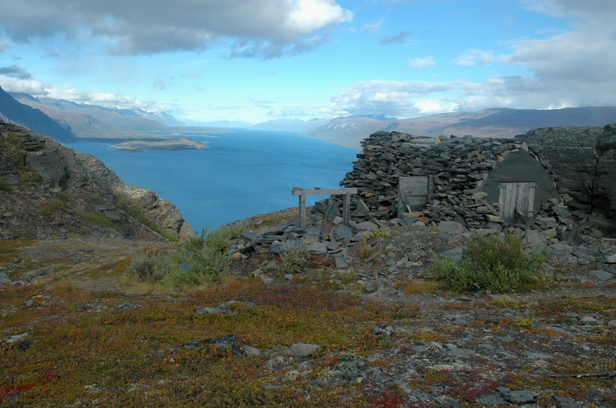 View from top of Russ Road above Storfjord with ruined bunker constructed from logs and stone cover. (c) eichener 2008 http://www.panoramio.com/photo/8725376