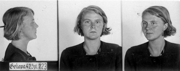 Marta Husemann, Gestapo photo. 1942