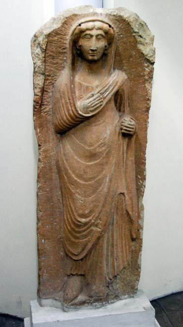Marble Roman grave marker, 1st century AD, Cyprus Museum, Nicosia.