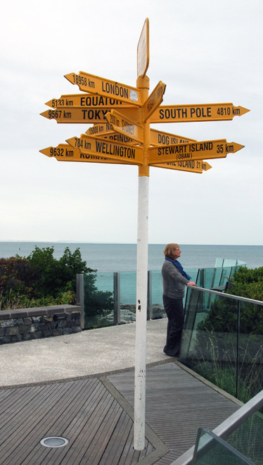 From Bluff to London it is 18,958 km while to the South Pole it is a mere 4,810km. The Principal inspects the sea conditions of the dreaded Foveaux Strait.