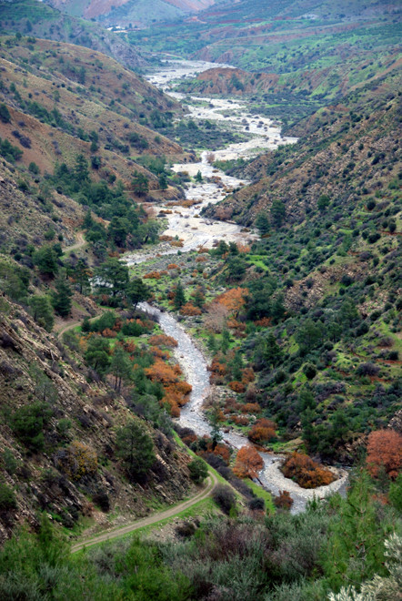 The Xeros river flowing into the TRNC