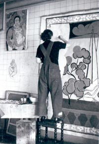 Lydia Delectorskaya at work in the studio of Matisse.