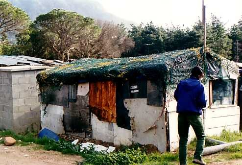 Informal shack at Imizamo Yethu (courtesy Hout Bay Community Christian Association)