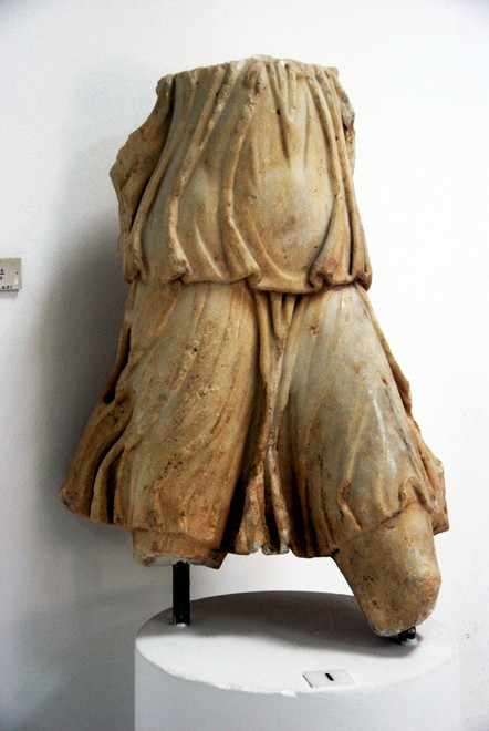 Marble Torso of Victory, Late Roman, 2nd-3rd century AD, Larnaca Archeological Museum