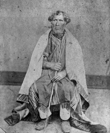 Te Matenga Taiaroa, about 1860 of the Ngai Tahu iwi and one of the local chieftains at Otakou  who was involved in the Sophia Incident and sacked the Wellers' whaling station. He is buried at Taiaroa Head (c) Turnbull Collection