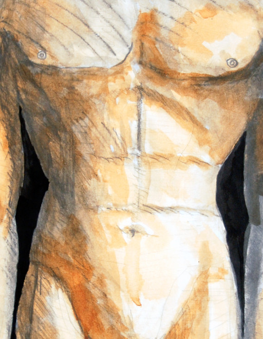 Kouros 2, 2009 (Charcoal and Gouache) (70x50) Detail