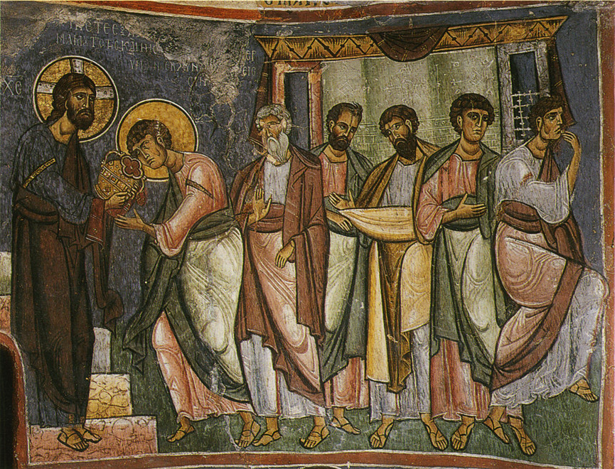 The Apostles in the apse?