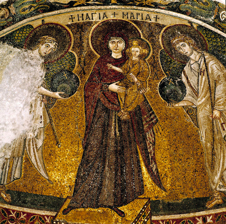 Byzantine floor mosaic, Panayia Angeloktistos in Kiti 6th C (MOI)