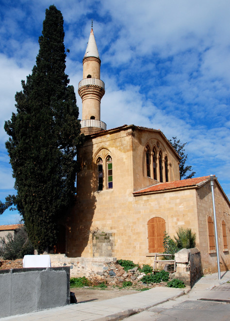 The dis-used 18th century Peristerona Mosque - it appears to have no other name. Its minaret has a rare double balcony