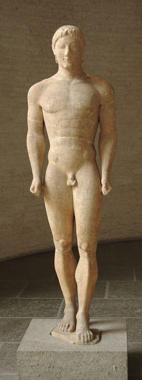 Munich kouros C. 540–530BC, Glyptothek, Munich (Courtesy Bibi Saint-Pol @ Wikimedia)
