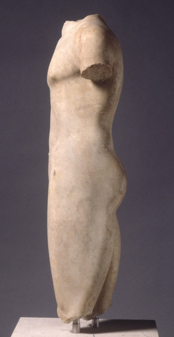 Marion kouros (rear view), BC 510-20, marble British Museum (British Museum photo)