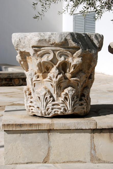 Marble column capital, Larnaca Archeological Museum.