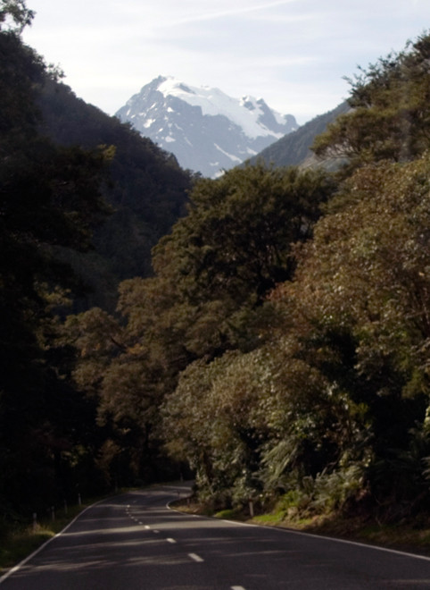 Mt Tutoko (2723m) from the Milford Road. Tutoko-Topuni is the highest peak in Fiordland.