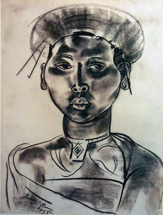 Charcoal drawing of woman, Irma Ster, Irma Stern Museum