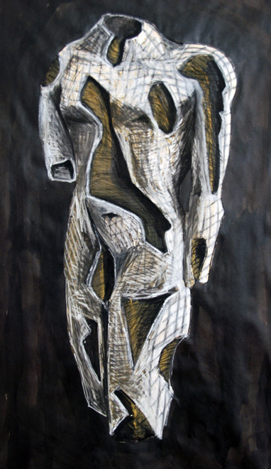 Hollow Torso (2008) (Chalk Conte Ink Gouache) (84x60) Fergus Murray