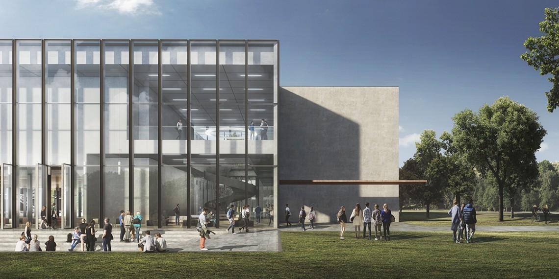 Nieuwbouw universiteit Tilburg. Werkzaamheden: bestek. Opdrachtgever: Kaan architecten.