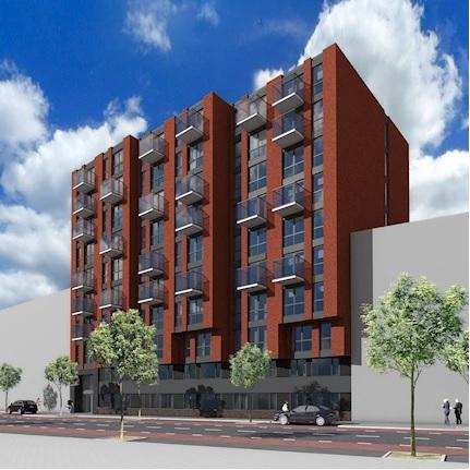 Nieuwbouw 116 appartementen. Werkzaamheden: kostenbewaking en directievoering.