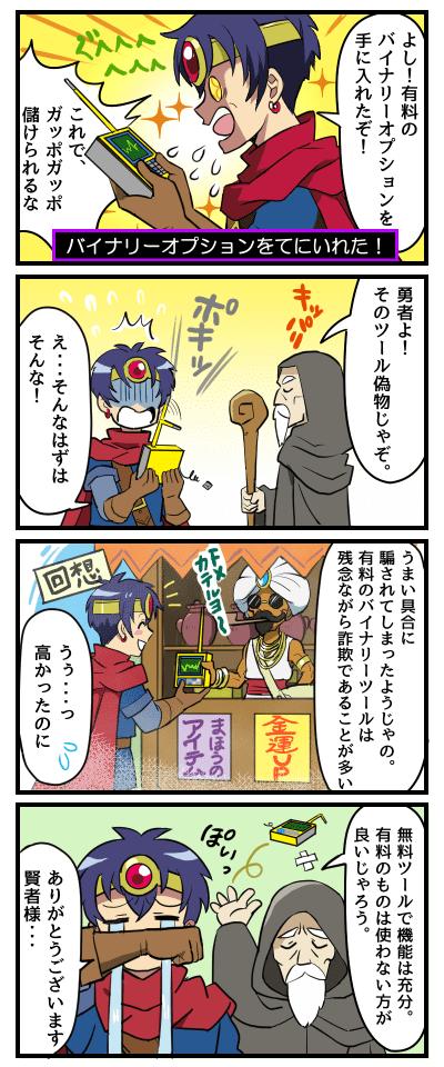 バイナリーオプション 四コマ漫画