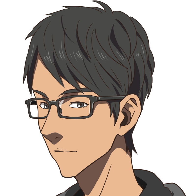 メガネ黒髪男子!