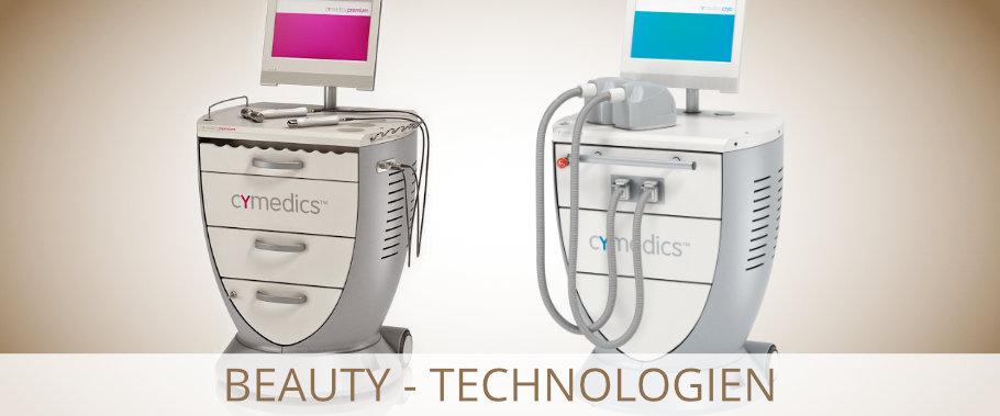 Die Geräte von cymedics innovative Technologien gegen schlaffe Haut und Fettpolster.