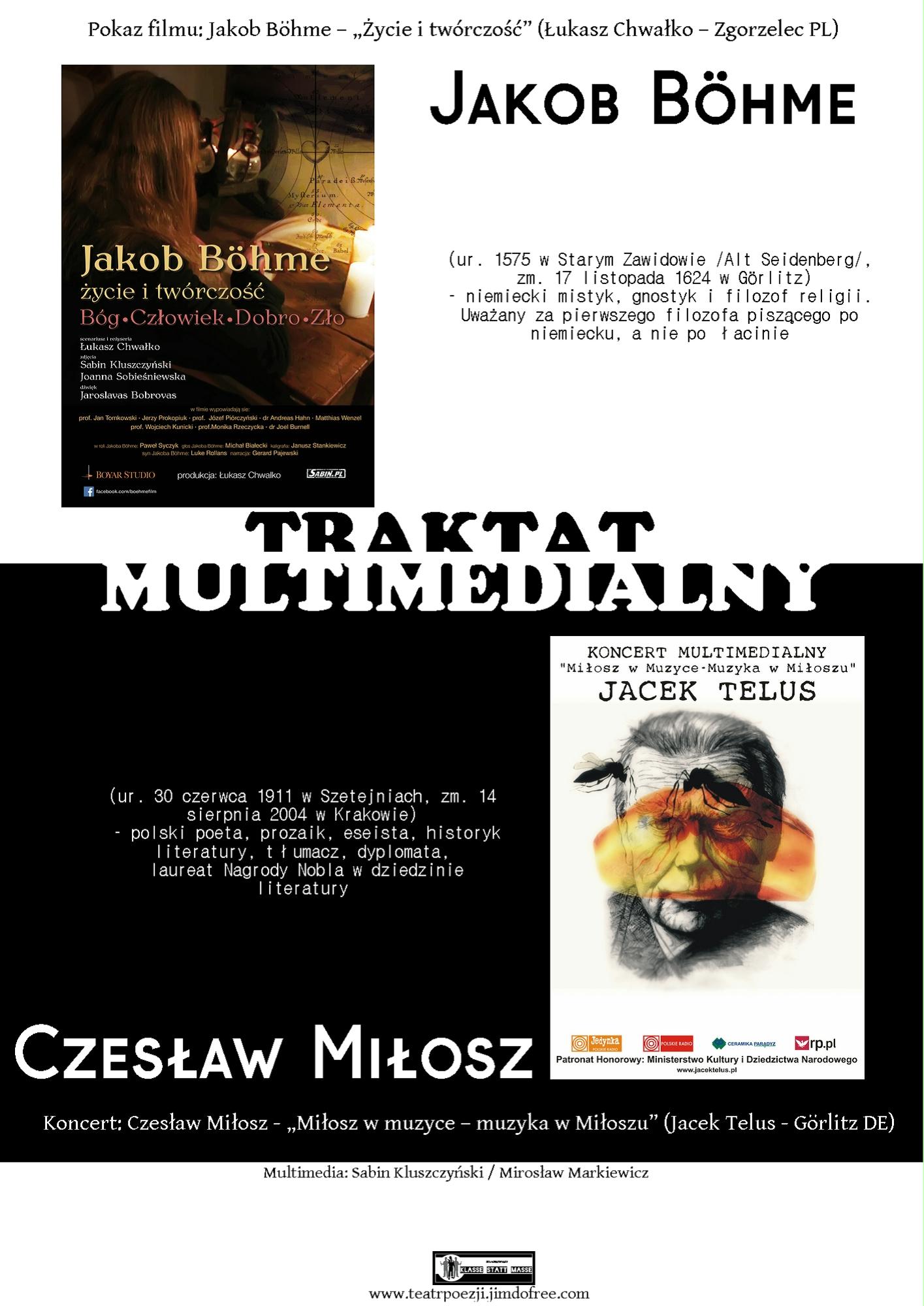 Traktat Multimedialny Jacob Böhme Czesław Miłosz