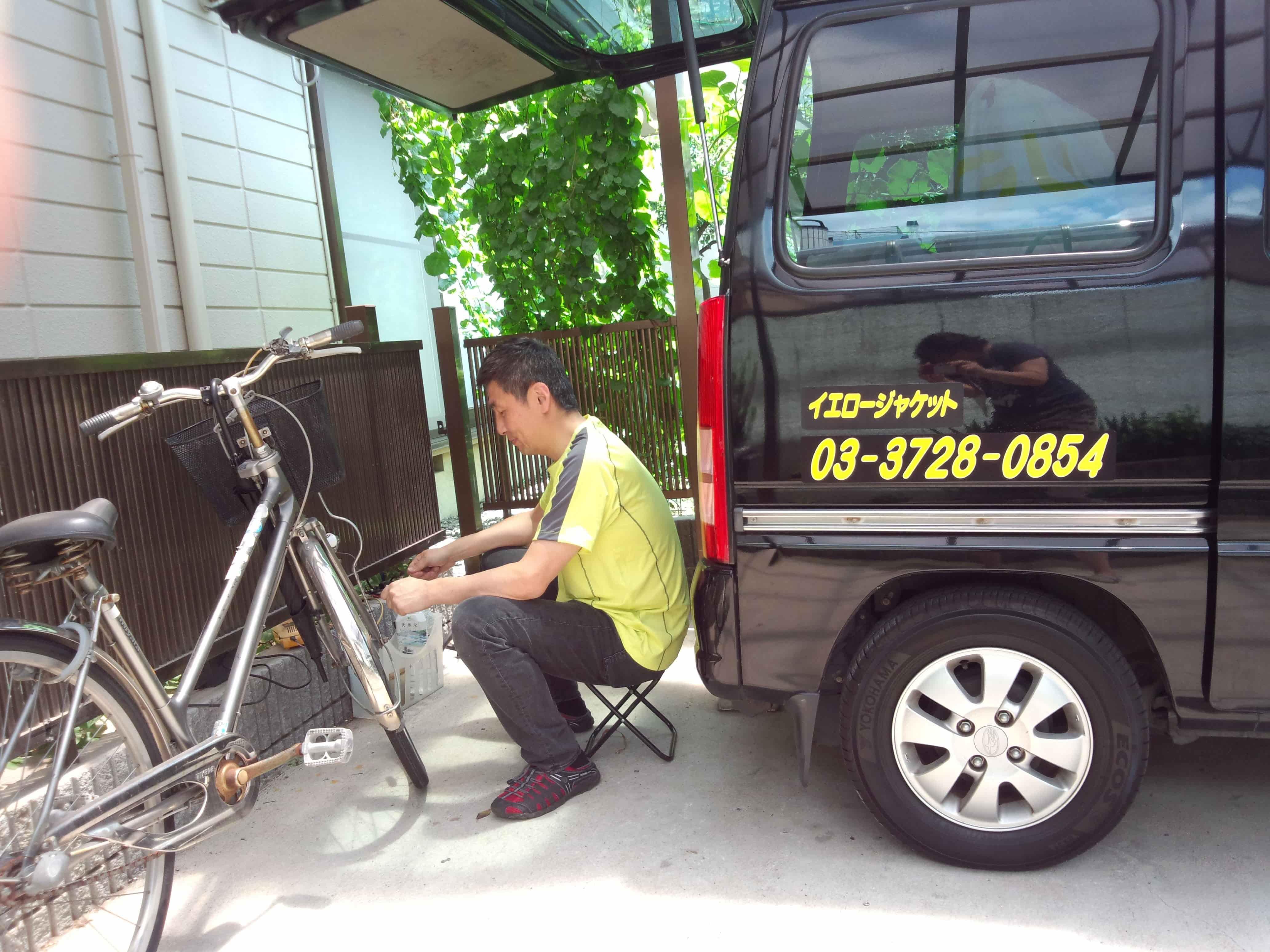 ご自宅での自転車修理