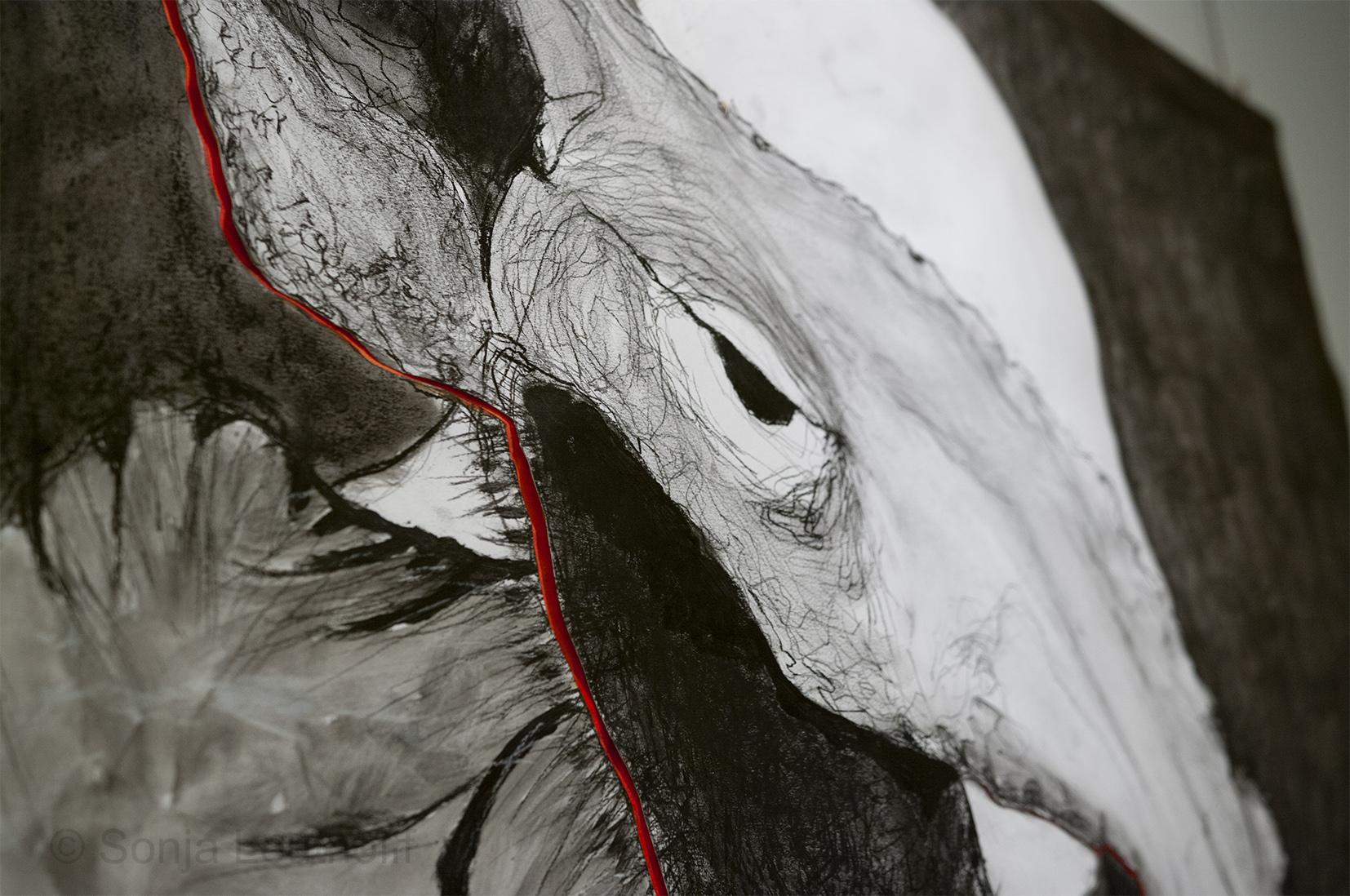 Detail van werk van Wilhelmina Zoutewelle