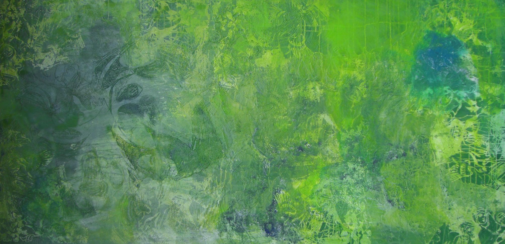 """""""Oriental Garden"""", 2010, 200 x 100 m, Öl auf Leinwand (Sammlung der LzO """"Im Norden"""")"""