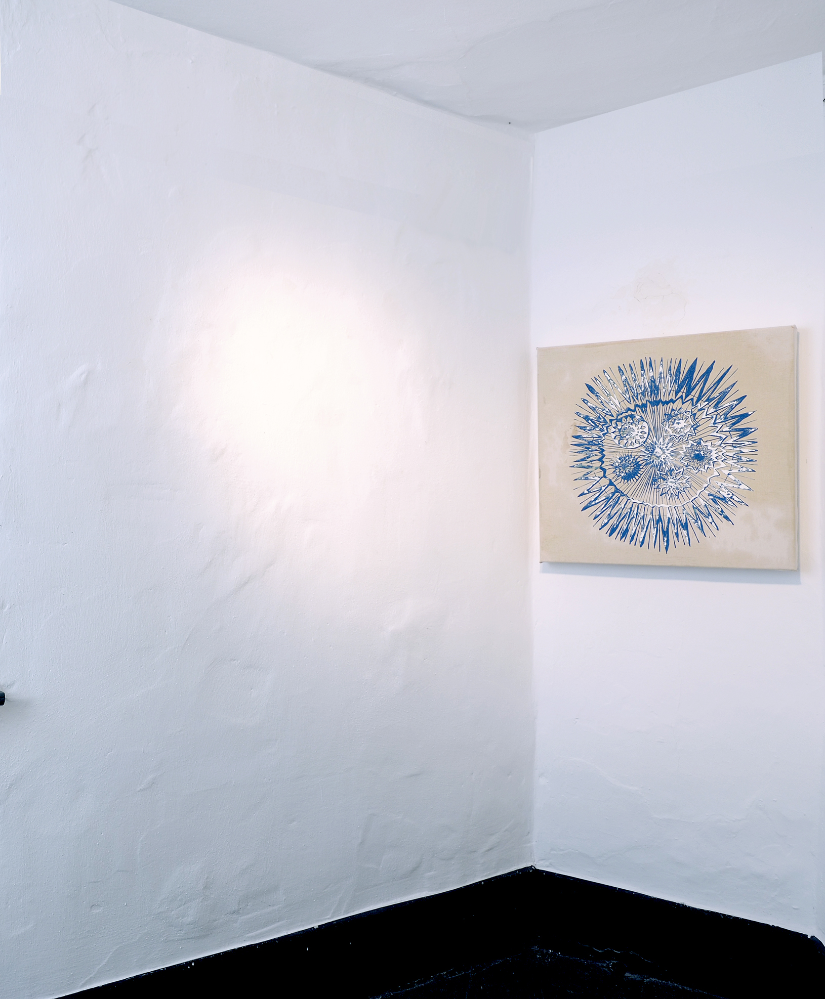 """Astro"""", 2016, 60 x 60 cm, Öl auf Leinwand Foto: Ralf Timm Ausstellung """"Lost Places"""", 2016, Kunstverein Kaponier Vechta"""