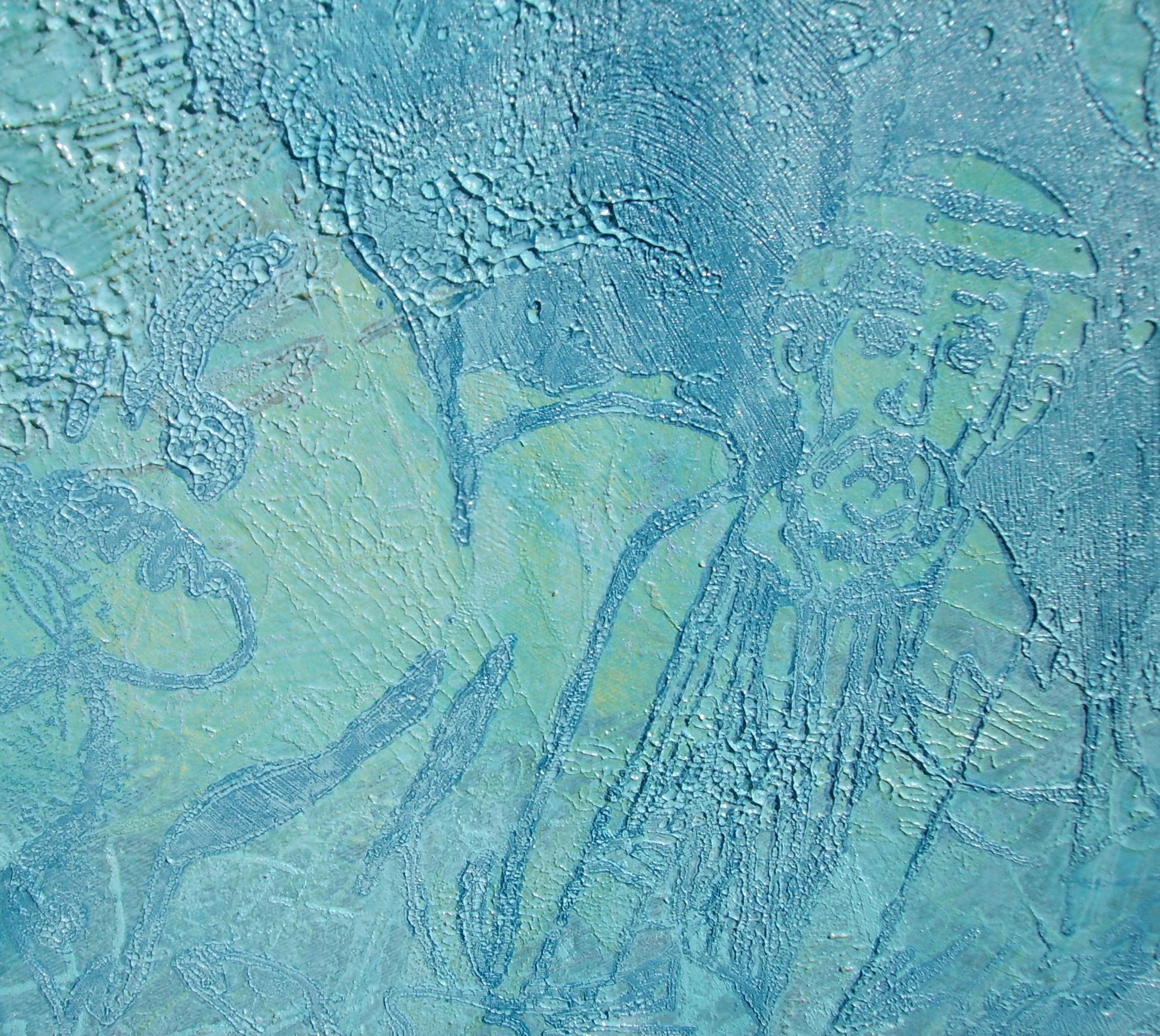 """""""Für Yves Klein"""", 2010, Detail, 150 x 150 m, Öl auf Leinwand, Besitz: Sammlung der Lzo """"Im Norden"""""""