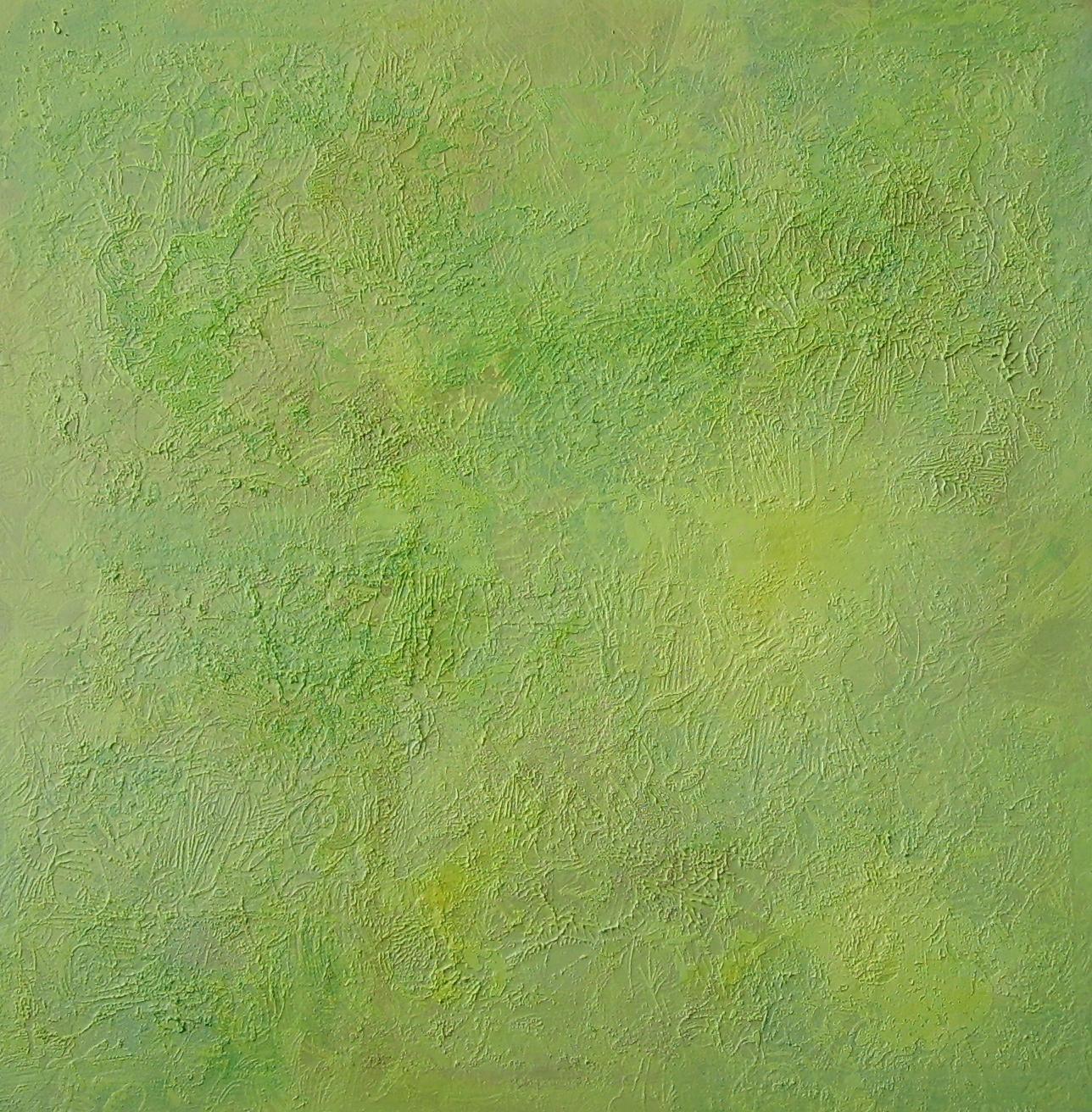 """""""Secret Garden"""", 2010, 100 x 100 m, Öl auf Leinwand, Besitz: Sammlung der Landessparkasse zu Oldenburg """"Im Norden"""""""
