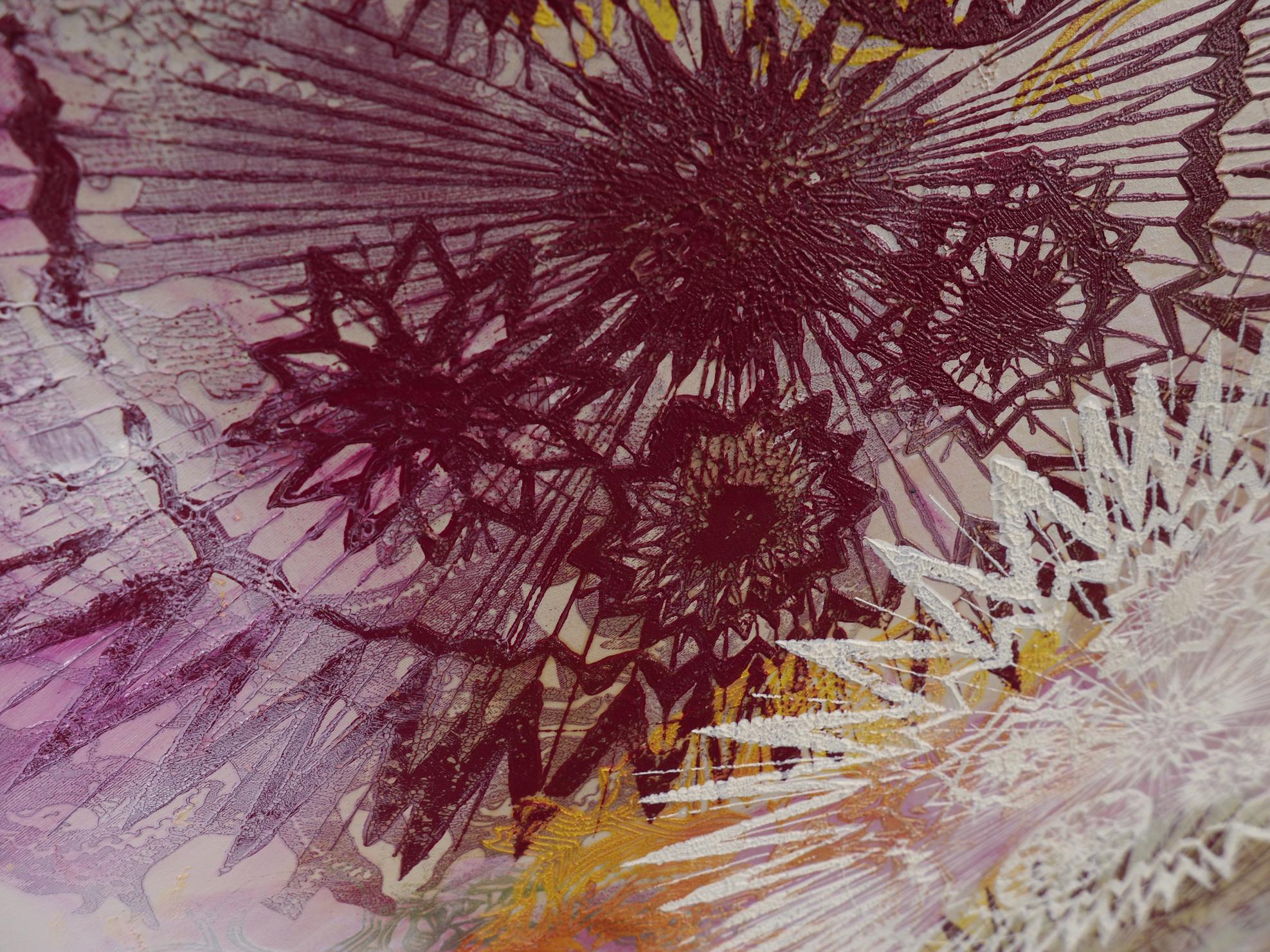 """""""Mitte des Lebens"""", 2014, Detail, Öl auf Leinwand, 170 x 170 cm"""