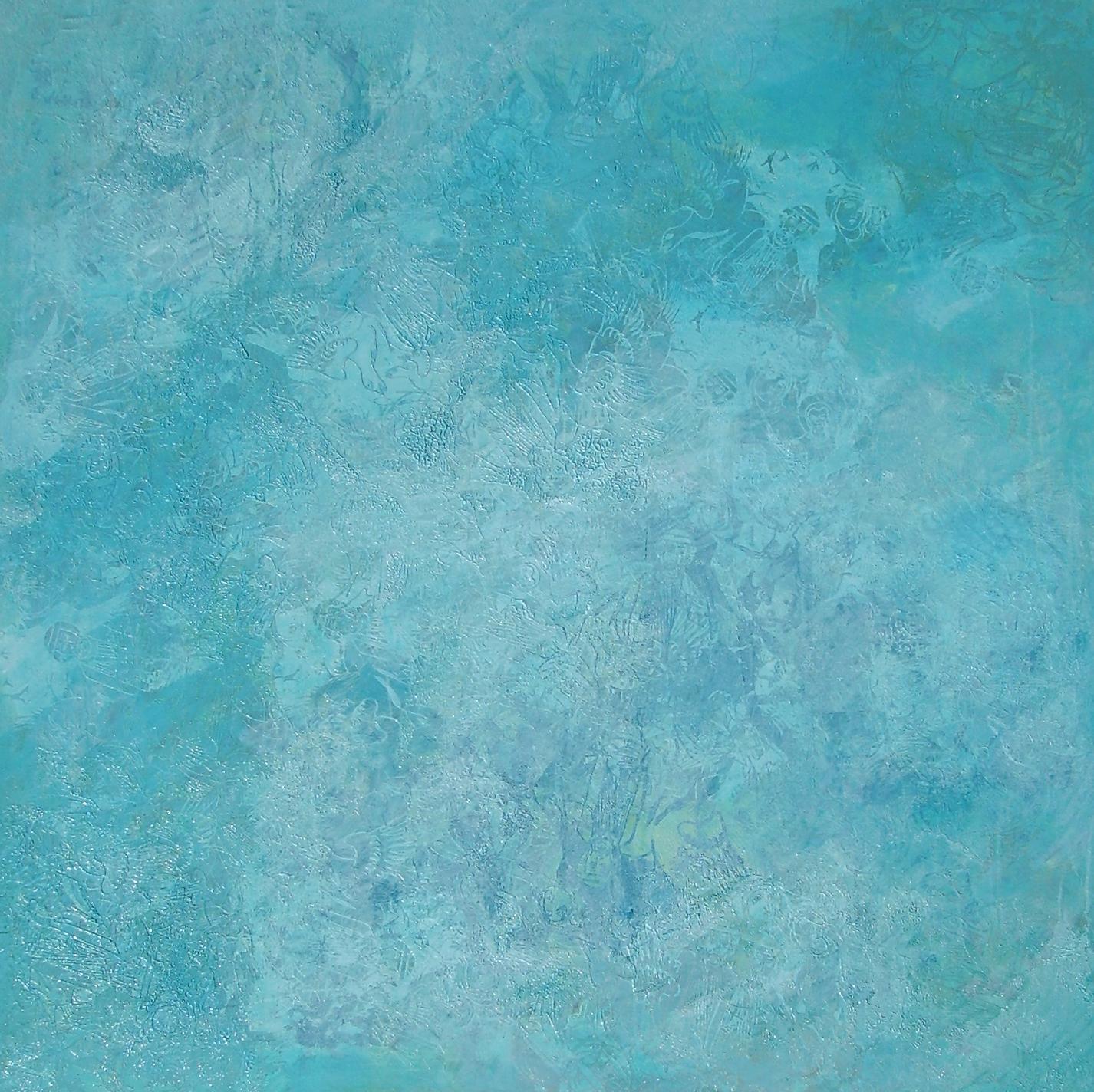 """""""Für Yves Klein"""", 2010, 150 x 150 m, Öl auf Leinwand, Besitz: Sammlung der Lzo """"Im Norden"""""""