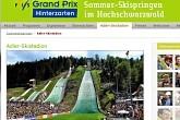 Skistadion Hinterzarten. Skispringen im Sommer und Wintrer auf der Adlerschanze