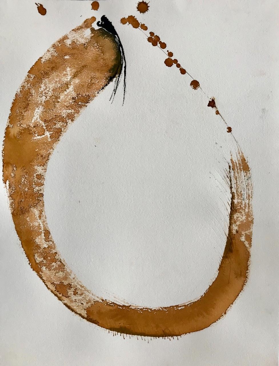 Bananana, Pt.4, Aquarell und Tusche auf Papier, 46 x 61 cm, 2018