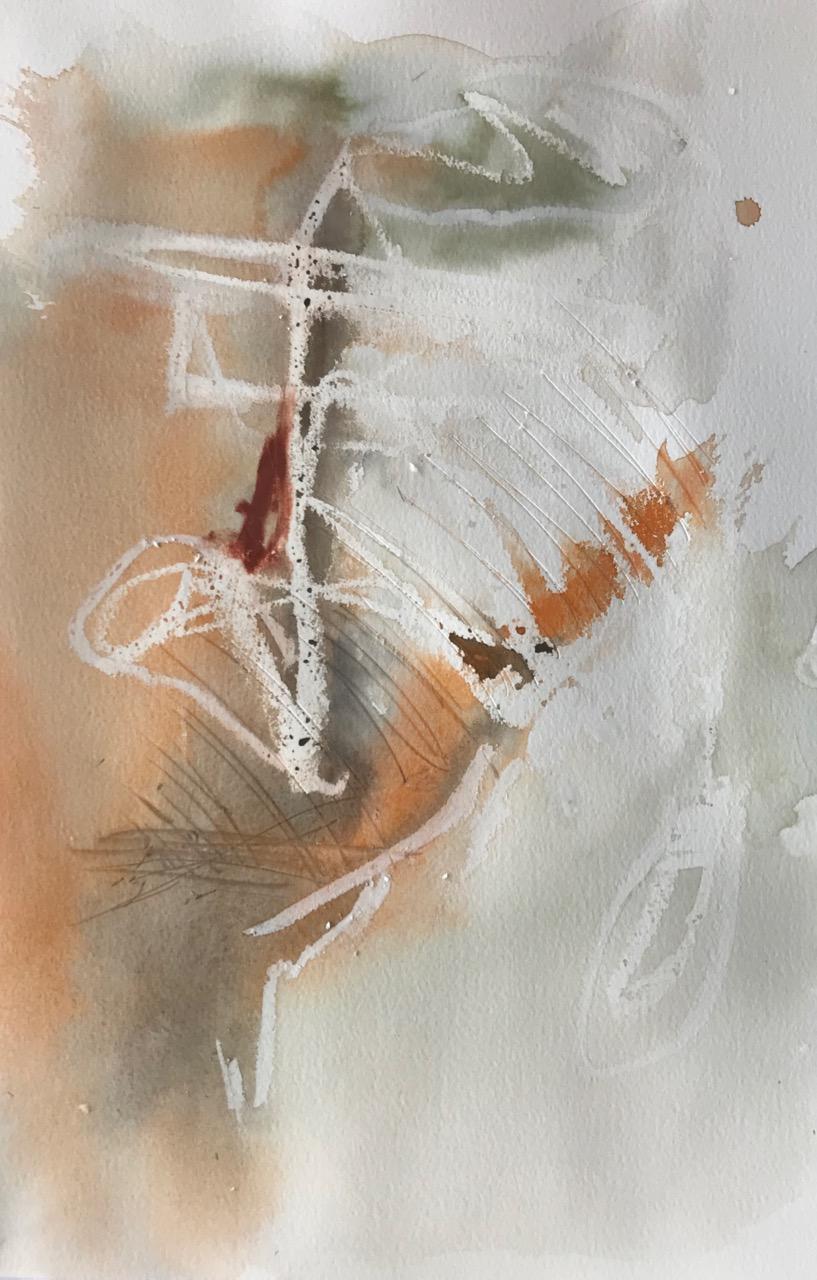 Ohne Titel, Aquarell und Tusche auf Papier, 2018