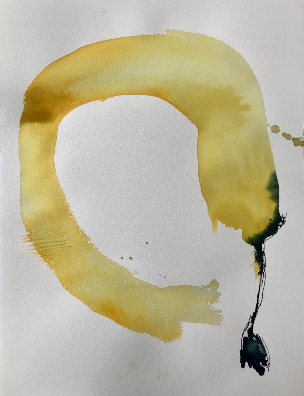 Bananana, Pt.1, Aquarell und Tusche auf Papier, 46 x 61 cm, 2018