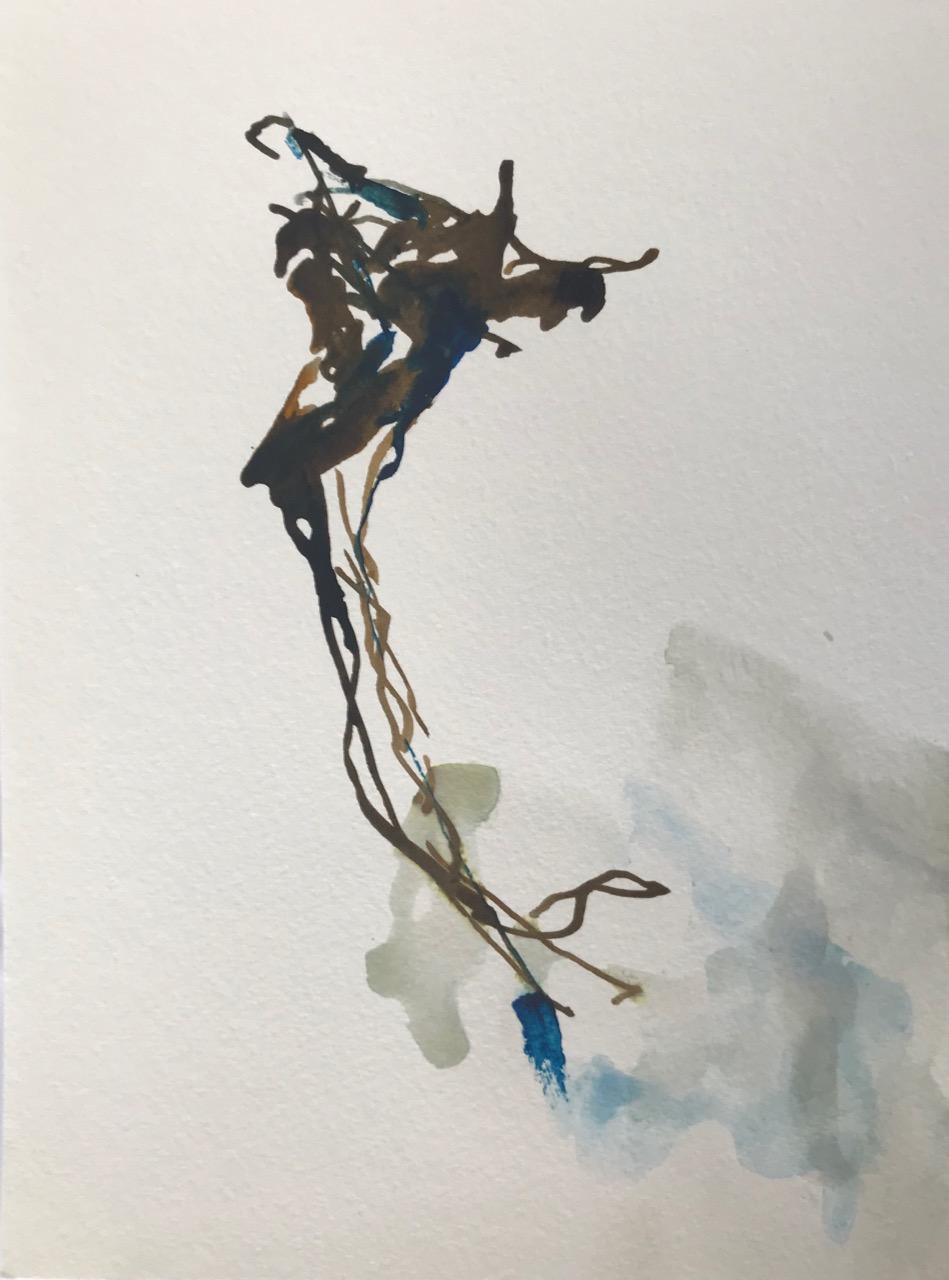 Kleine Enzyklopädie der Mittelmeerquallen Pt.5, Aquarell und Tusche auf Papier, 21 x 30 cm, 2018