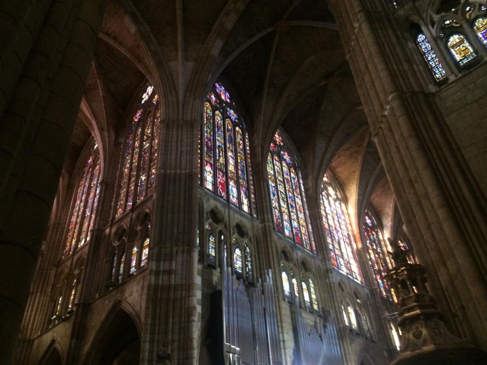 Lichte energie in de kathedraal van Leon