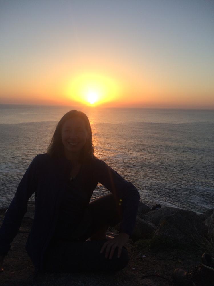 """Zonsondergang bij Finistera """"het einde van de wereld"""""""