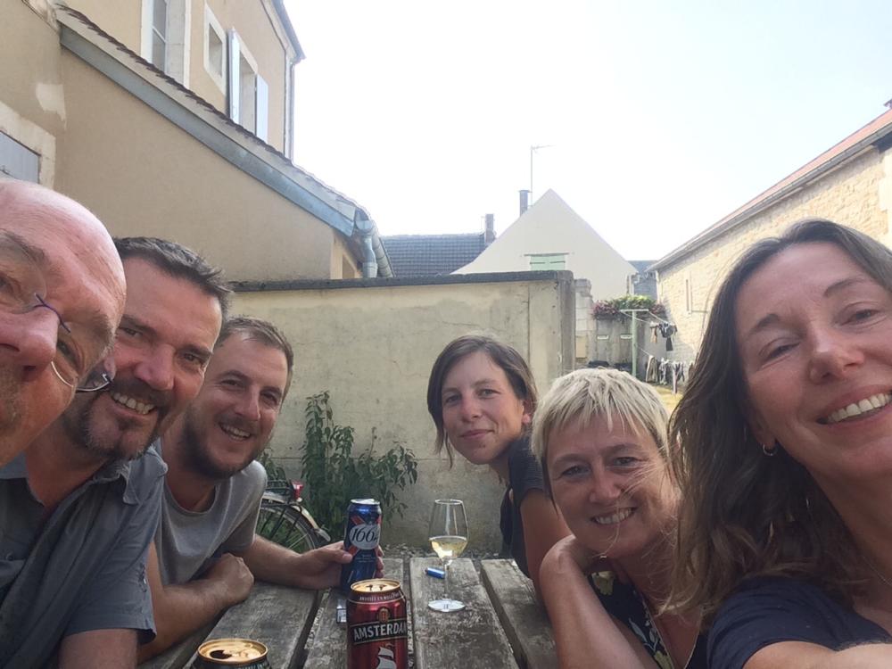 Les Pelerins Henk, John, Thomas, Lorina, Nancy, Marion