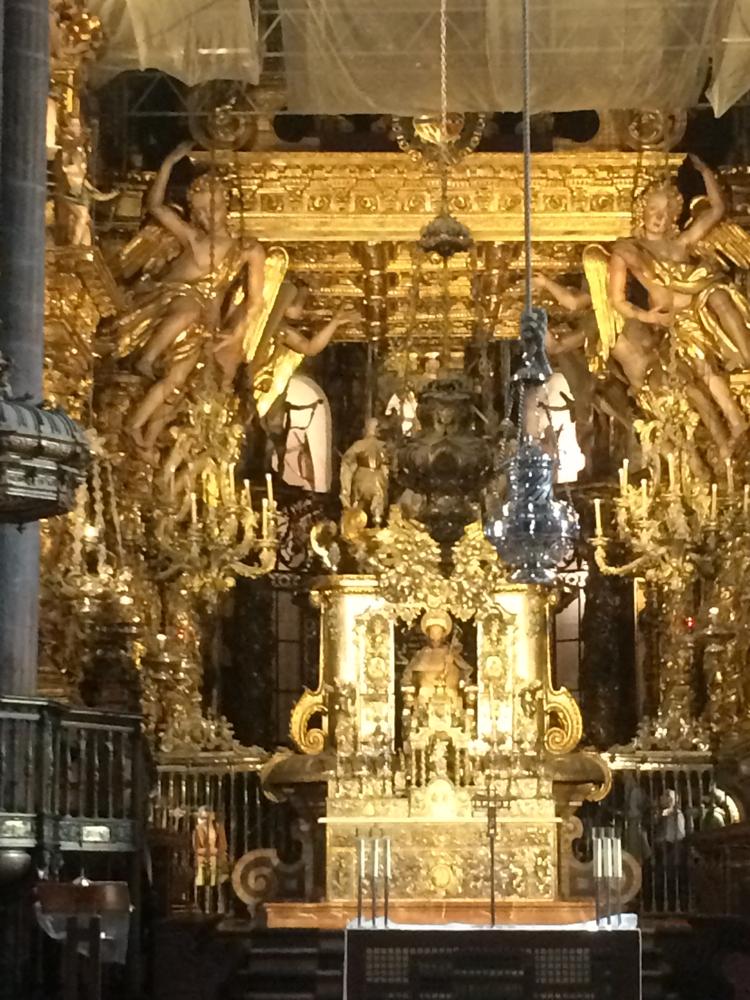 Het beeld van Jacobus de apostel